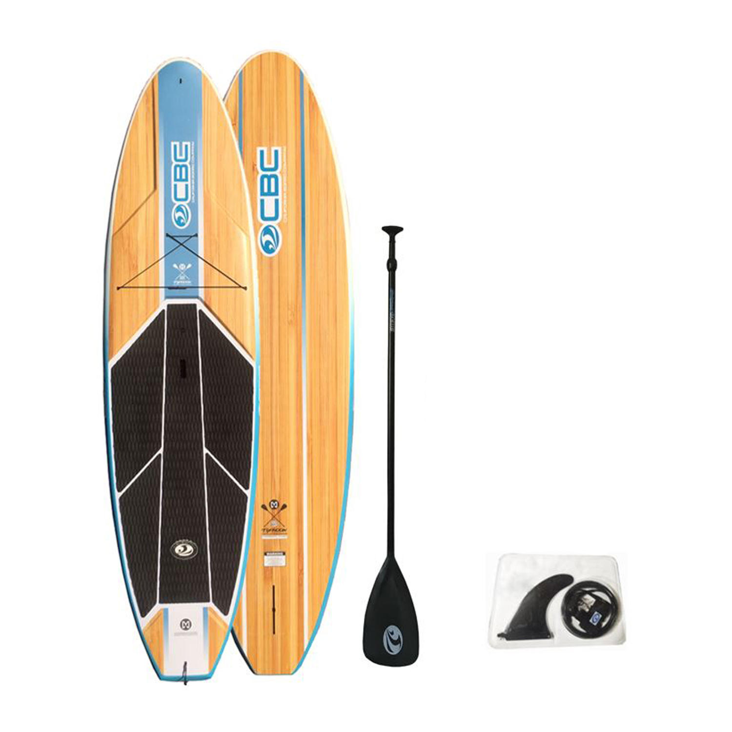 """10'6"""" Typhoon Wood Graphic Compression Molded ABS SUP"""