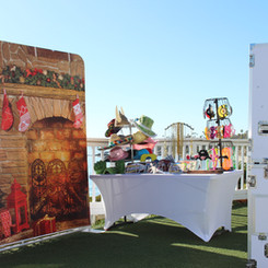Premium Photo Booth With Printed Backdrop