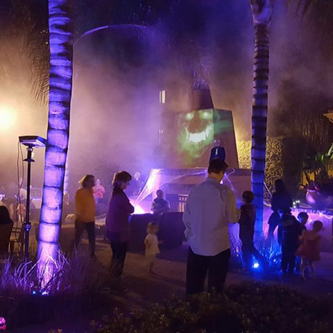 Halloween Lights and Hallogram and Fog.P