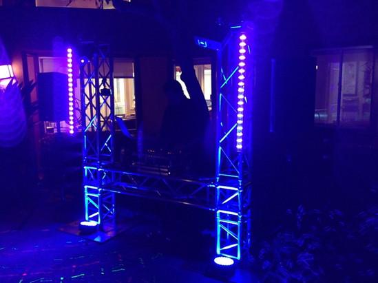 DJ Truss Setup With Blacklights Bars.JPG