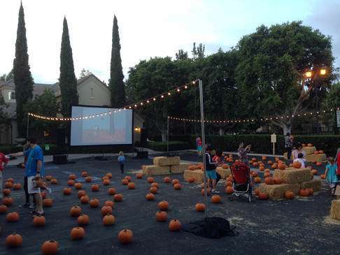 Pumpkin Patch Parking Lot w Movie And Li