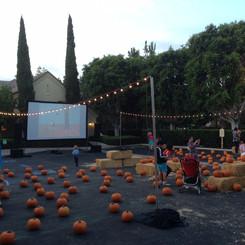 Pumpkin Patch Parking Lot w Movie And Li