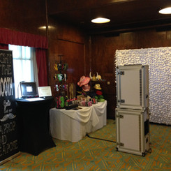 Photo Booth Setup - Queen Mary - With Scrapbook Station