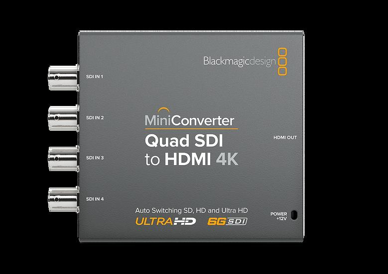 Mini Converter Quad SDI to HDMI 4K 迷你轉換器