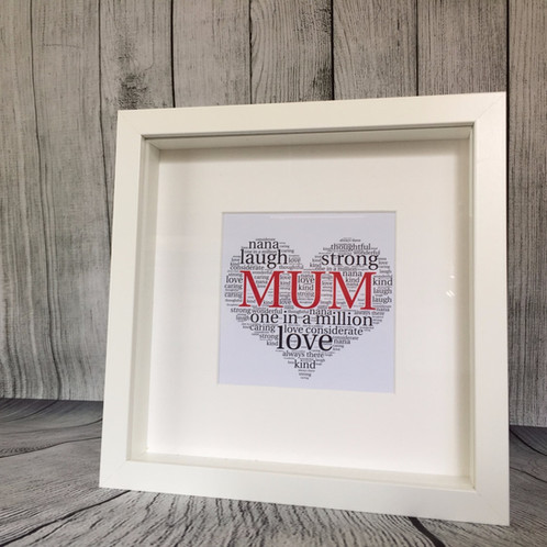 Framed Mum Word Art