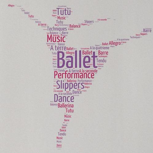 Ballet Word Art Print