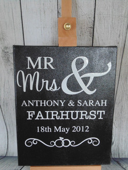 Mr and Mrs Wedding Canvas