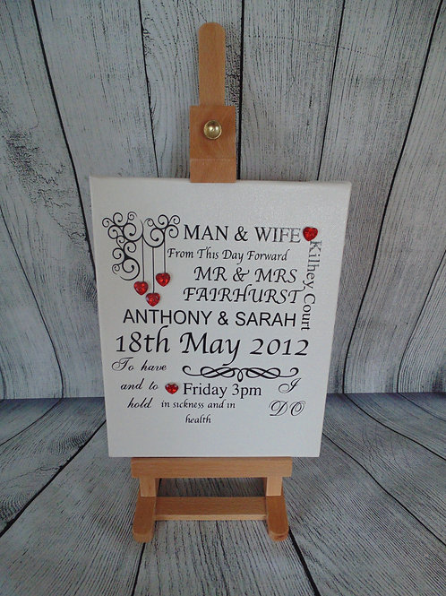 Man & Wife Personalised Canvas