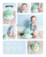 Boy Giant Cupcake Cake Smash