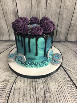 Fortnite Birthday Drip Cake