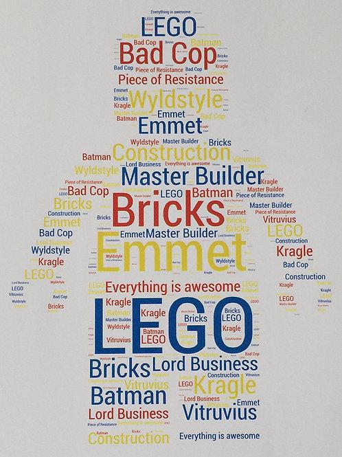 Lego Word Art Print