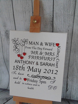 Man and Wife Wedding Canvas