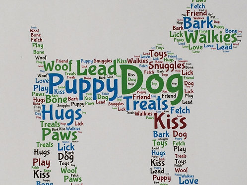 Dog Word Art Print