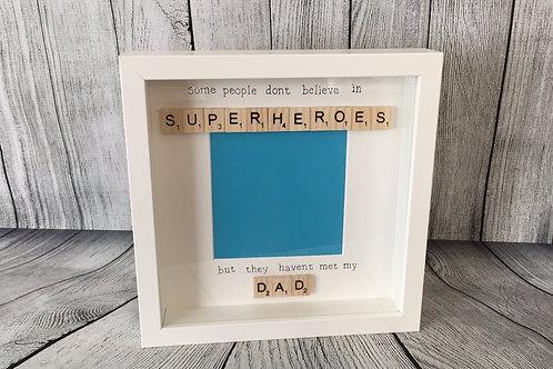 Dad Scrabble Word Art Frame