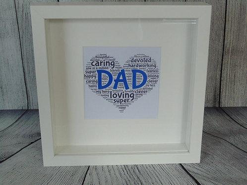 Framed Dad Word Art