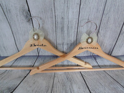 Bride & Groom Natural Wedding Hanger