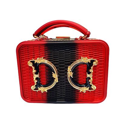 "Box Bag ""Luxury"" Bicolor Rouge"