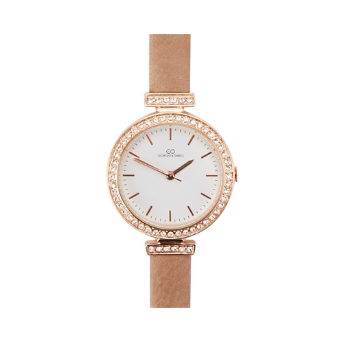 Montre à Strass Taupe