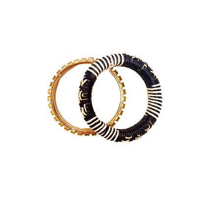 Lot de Bracelets Raphia & Or