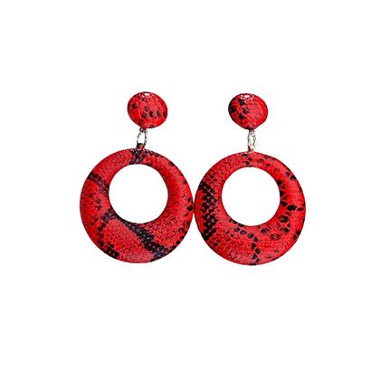 Boucles d'oreilles Imprimées Rouges