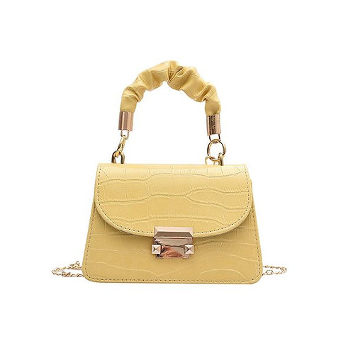 Mini Sac en Croco Jaune