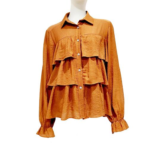 Chemise à Volants Camel