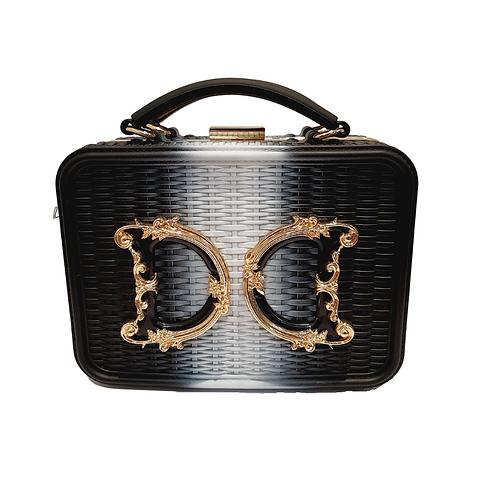 "Box Bag ""Luxury"" Bicolor Noir"