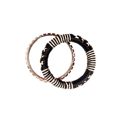Lot de Bracelets Raphia & Argent