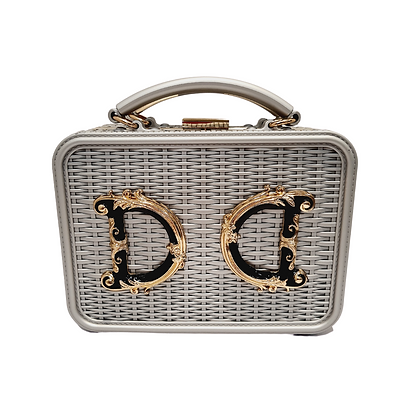 """Box Bag """"Luxury"""" Argenté"""