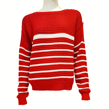 Pullover Marin Rouge