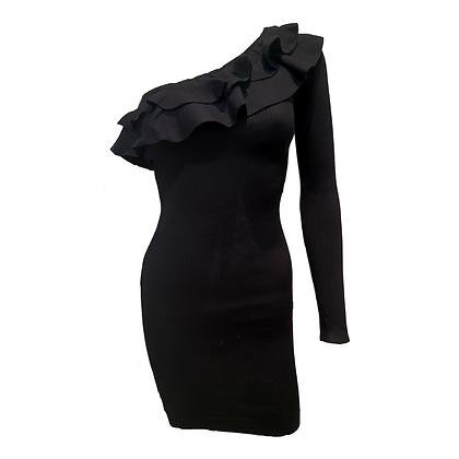Robe Asymétrique Noire
