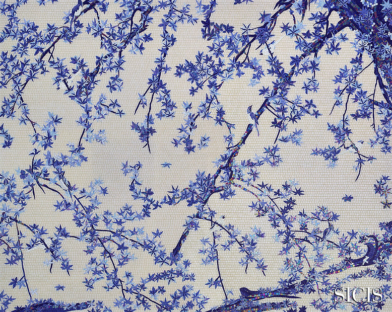 Maple tree and small birds Blue (270x215).jpg