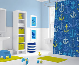 Anchors Away Bathroom Mockup