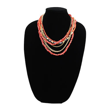 Mandarin Multi-Chain Beaded Necklace