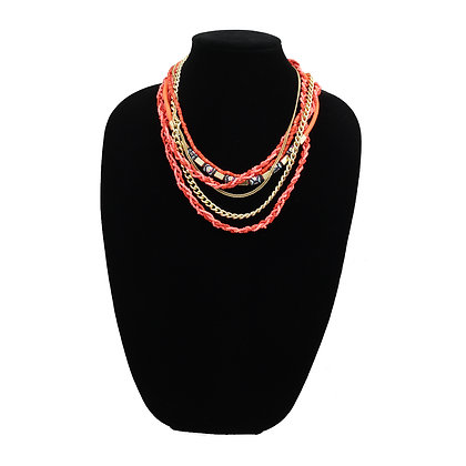 Mandarin Multi-Chain Beaded Necklace