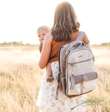 Vanilla Latte Boss Backpack | Diaper Bag by Itzy Ritzy