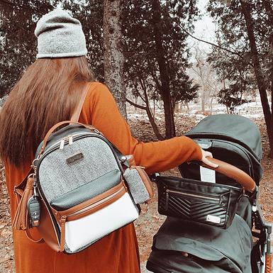 Itzy Ritzy Coffee & Cream Mini Diaper Bag Backpack