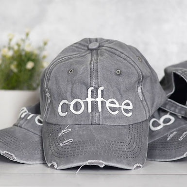 Coffee Distressed Hat