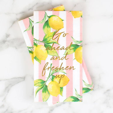 Lemon Guest Hand Towels by 8 Oak Lane