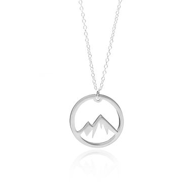 Sterling Silver Circle Mountain Necklace
