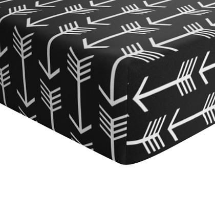 JLIKA Crib Sheet Black and White Arrow