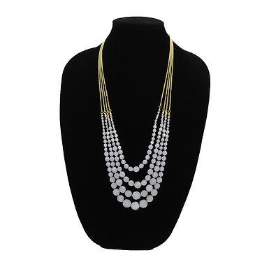 Multi-Chain Lavender Necklace