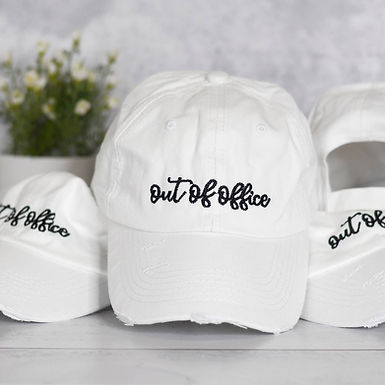 Out of Office Distressed Hat