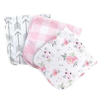 JLIKA Burp Cloths - Pink Collection