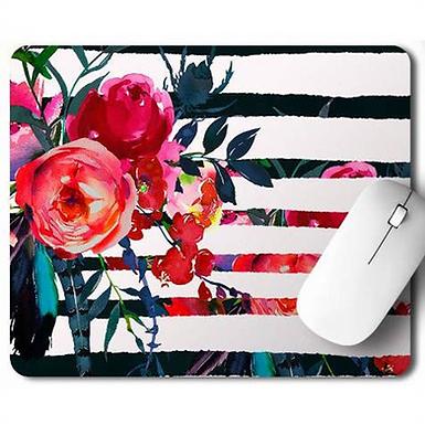 Boho Floral Mouse Pad