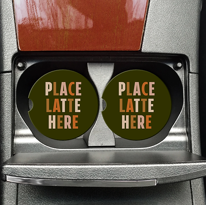 Place Latte Here Coaster