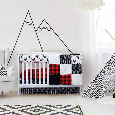 JLIKA Crib Bedding Set - Woodland Collection