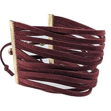Burgundy Multi-Banded Bracelet