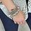 Thumbnail: Bohemian Bead Stone & Charm Silver Bracelet