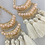 Thumbnail: Pink Beaded Tassel Earrings
